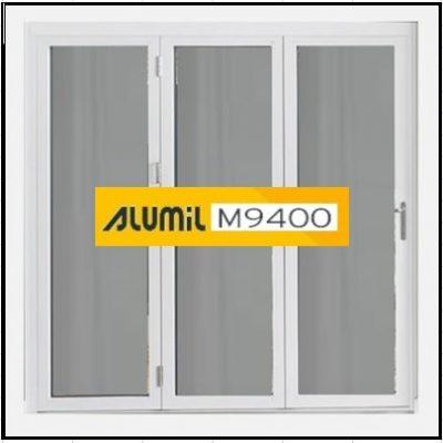 Κούφωμα Παράθυρο Τρίφυλλο Ανοιγόμενο Τζάμι Αλουμινίου Alumil 9400