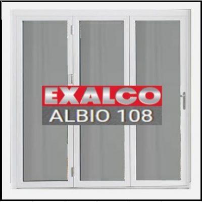 Κούφωμα Παράθυρο Τρίφυλλο Ανοιγόμενο Τζάμι Αλουμινίου Exalco Albio 108