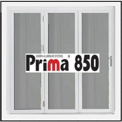 Κούφωμα Παράθυρο Τρίφυλλο Ανοιγόμενο Τζάμι Αλουμινίου Prima 850