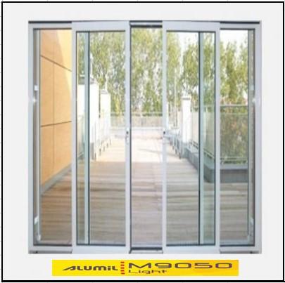 Κουφώματα αλουμινίου Τετράφυλλο Επάλληλο Alumil 9050 light
