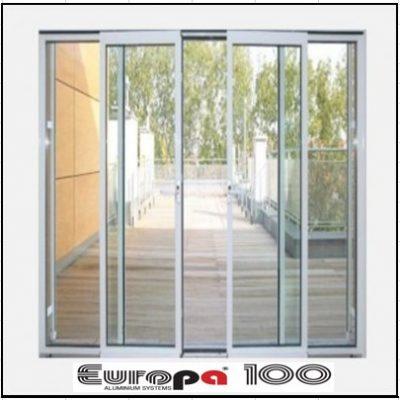 Κουφώματα αλουμινίου Τετράφυλλο Επάλληλο Europa 100