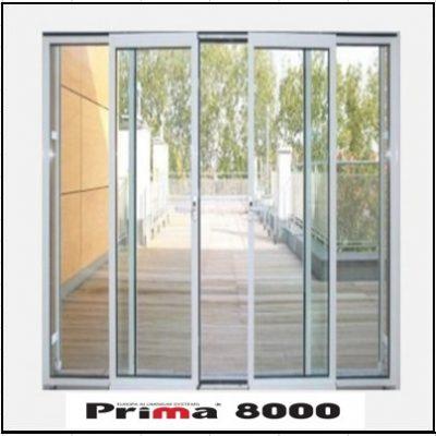 Ενεργειακά κουφώματα αλουμινίου Τετράφυλλο Επάλληλο Prima 8000 Thermo