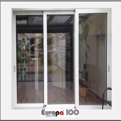 Κουφώματα αλουμινίου Τρίφυλλο Επάλληλο Europa 100