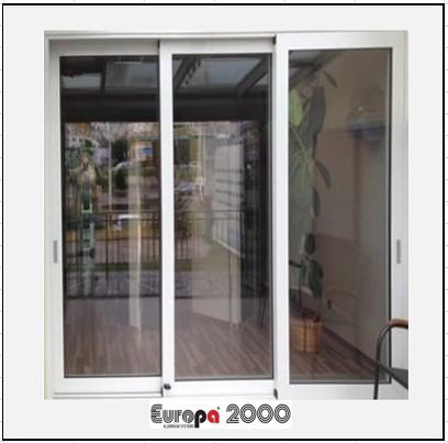 Κουφώματα αλουμινίου Τρίφυλλο Επάλληλο Europa 2000