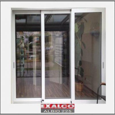 Ενεργειακά κουφώματα αλουμινίου Τρίφυλλο Επάλληλο Exalco Albio 225 Thermo
