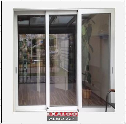 Ενεργειακά κουφώματα αλουμινίου Τρίφυλλο Επάλληλο Exalco Albio 227 Thermo