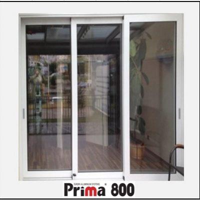 Κουφώματα αλουμινίου Τρίφυλλο Επάλληλο Prima 800
