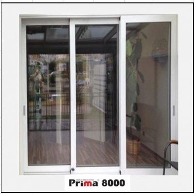 Ενεργειακά Κουφώματα αλουμινίου Τρίφυλλο Επάλληλο Prima 8000 Thermo