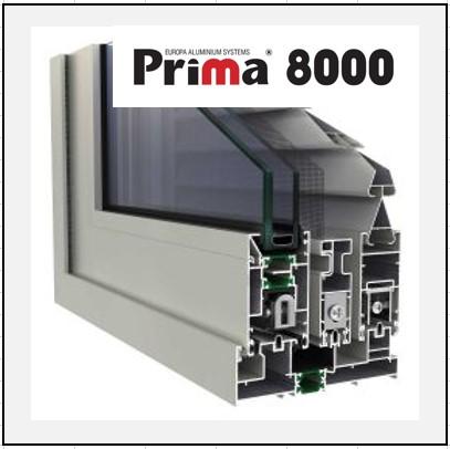Prima 8000 Thermo κούφωμα