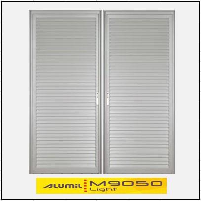 Κουφώματα αλουμινίου Δίφυλλο Χωνευτό Πατζούρι Alumil 9050 light