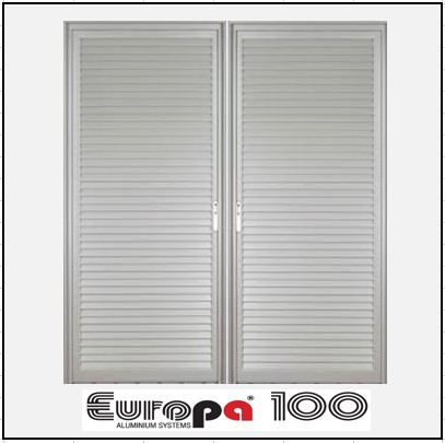 Κουφώματα αλουμινίου Δίφυλλο Χωνευτό Πατζούρι Europa 100