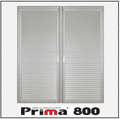 Κουφώματα αλουμινίου Δίφυλλο Χωνευτό Πατζούρι Prima 800