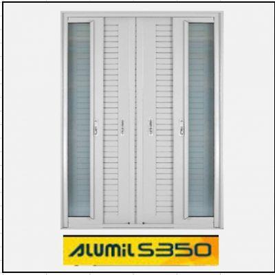 Ενεργειακά κουφώματα Δίφυλλο Χωνευτό Τζάμι Πατζούρι Alumil 350 Thermo