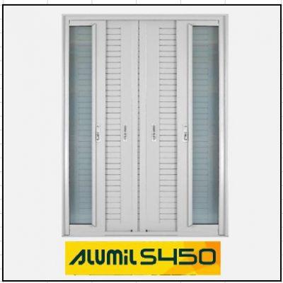 Ενεργειακά κουφώματα Δίφυλλο Χωνευτό Τζάμι Πατζούρι Alumil 450 Thermo