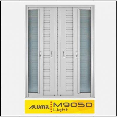 Κουφώματα αλουμινίου Δίφυλλο Χωνευτό Τζάμι Πατζούρι Alumil 9050 light