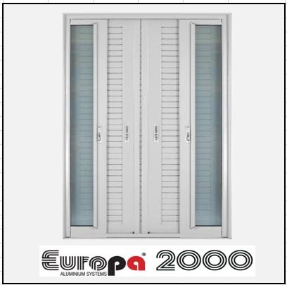 Κουφώματα αλουμινίου Δίφυλλο Χωνευτό Τζάμι Πατζούρι Europa 2000
