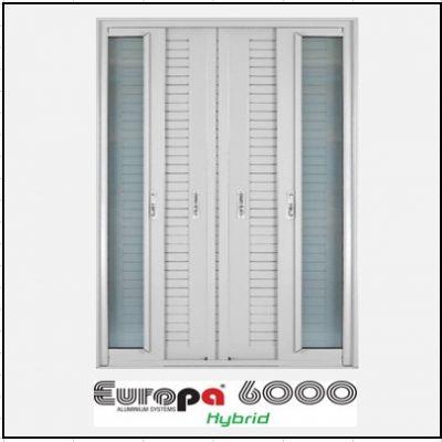 Ενεργειακά κουφώματα Δίφυλλο Χωνευτό Τζάμι Πατζούρι Europa 6000 Thermo