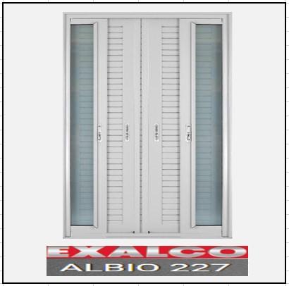Ενεργειακά κουφώματα Δίφυλλο Χωνευτό Τζάμι Πατζούρι Exalco 227 Thermo