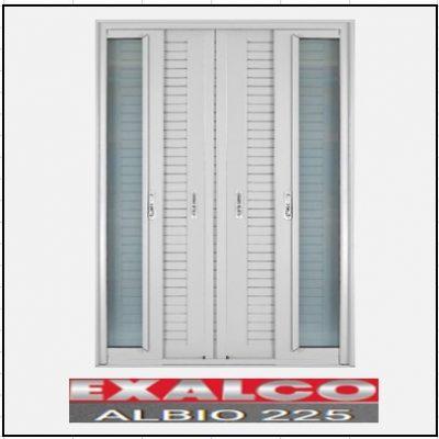 Ενεργειακά κουφώματα Δίφυλλο Χωνευτό Τζάμι Πατζούρι Exalco Albio 225 Thermo