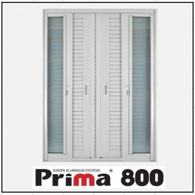 Κουφώματα αλουμινίου Δίφυλλο Χωνευτό Τζάμι Πατζούρι Prima 800