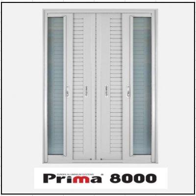 Ενεργειακά κουφώματα Δίφυλλο Χωνευτό Τζάμι Πατζούρι Prima 8000 Thermo