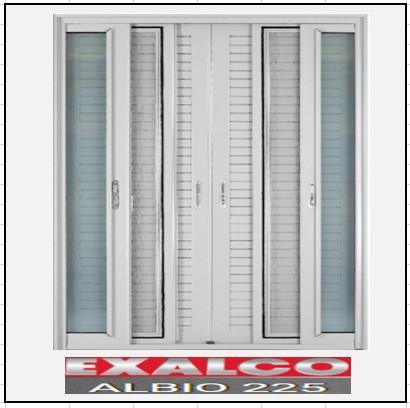 Ενεργειακά Κουφώματα Δίφυλλο Χωνευτό Τζάμι Σήτα Πατζούρι Exalco 225 Thermo