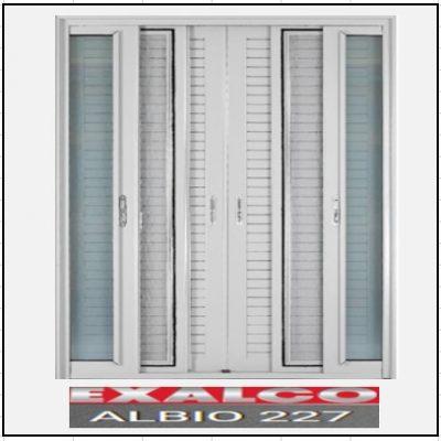 Ενεργειακά κουφώματα Δίφυλλο Χωνευτό Τζάμι Σήτα Πατζούρι Exalco 227 Thermo