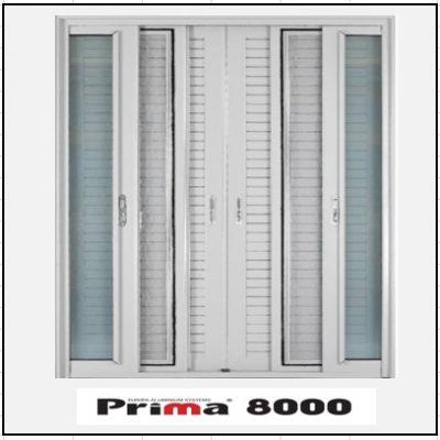 Ενεργειακό κούφωμα Δίφυλλο Χωνευτό Τζάμι Σήτα Πατζούρι Prima 8000 Thermo