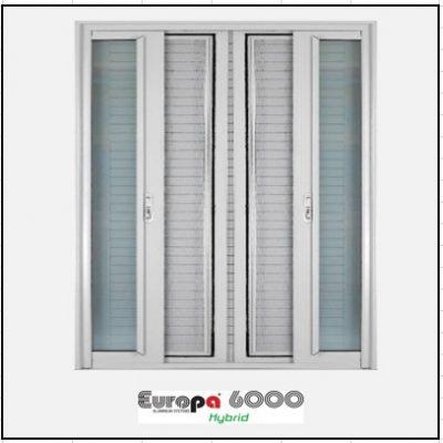 Ενεργειακα κουφωματα Δίφυλλο Χωνευτό Τζάμι Σήτα Europa 6000 Thermo