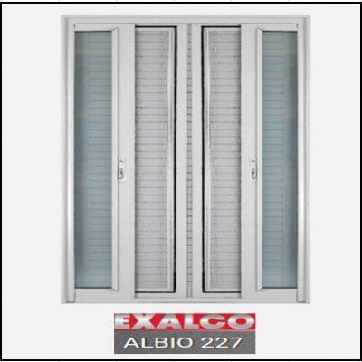 Ενεργειακά κουφώματα Δίφυλλο Χωνευτό Τζάμι Σήτα Exalco 227 Thermo