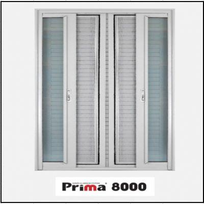 Ενεργειακά κουφώματα Δίφυλλο Χωνευτό Τζάμι Σήτα Prima 8000 Thermo