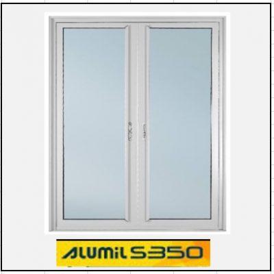 Ενεργειακά κουφώματα Δίφυλλο Χωνευτό Τζάμι Alumil 350 Thermo
