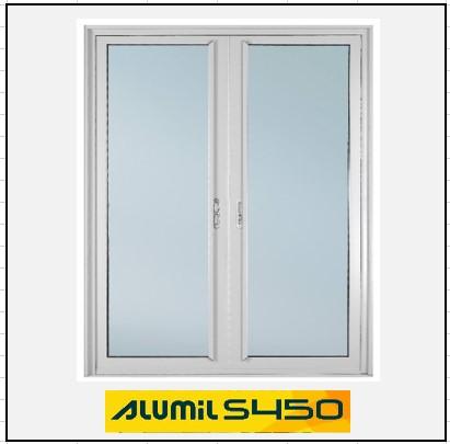 Ενεργειακά κουφώματα Δίφυλλο Χωνευτό Τζάμι Alumil 450 Thermo