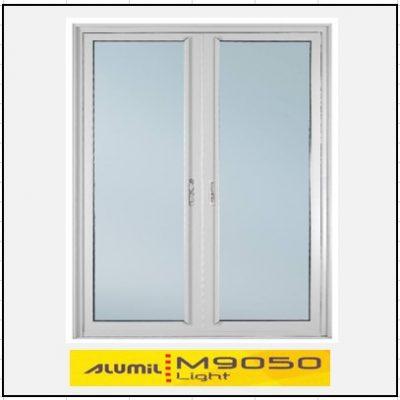 Κουφώματα αλουμινιου Δίφυλλο Χωνευτό Τζάμι Alumil 9050 light