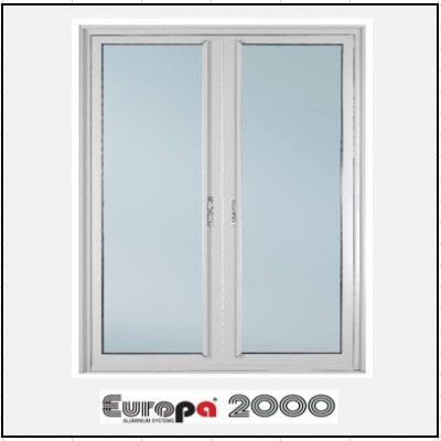 Κουφώματα αλουμινίου Δίφυλλο Χωνευτό Τζάμι Europa 2000