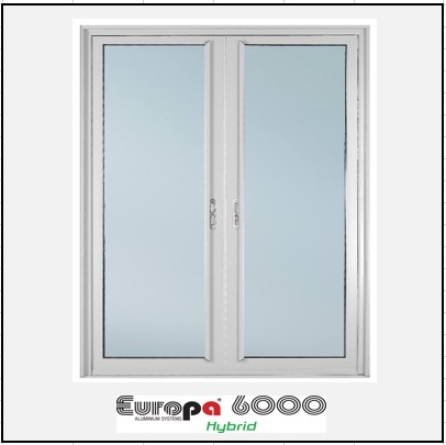 Ενεργειακά κουφώματα Δίφυλλο Χωνευτό Τζάμι Europa 6000 Thermo