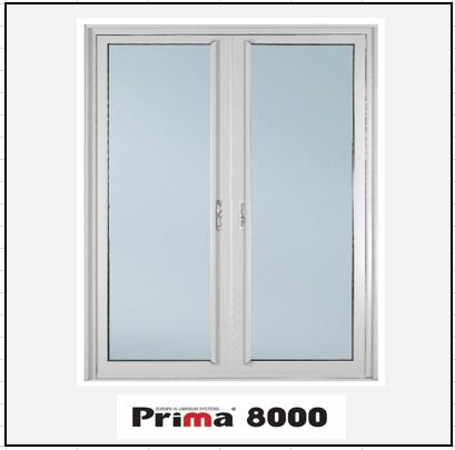 Ενεργειακά κουφώματα Δίφυλλο Χωνευτό Τζάμι Prima 8000 Thermo