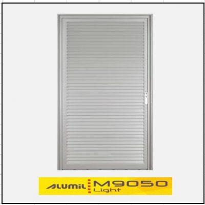 Κουφώματα αλουμινίου Μονόφυλλο Χωνευτό Πατζούρι Alumil 9050 light
