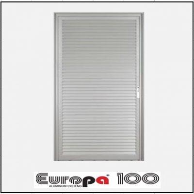 Κουφώματα αλουμινίου Μονόφυλλο Χωνευτό Πατζούρι Europa 100