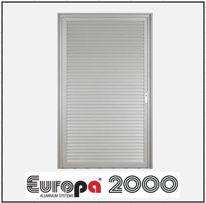 Κουφώματα αλουμινίου Μονόφυλλο Χωνευτό Πατζούρι Europa 2000