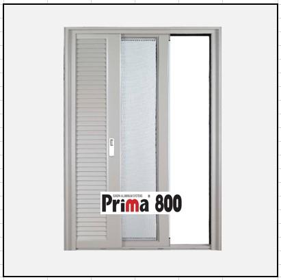 Κουφώματα αλουμινίου Μονόφυλλο Χωνευτό Τζάμι Πατζούρι Prima 800