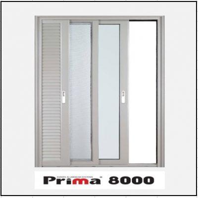 Ενεργειακά κουφώματα Μονόφυλλο Χωνευτό Τζάμι Σήτα Πατζούρι Prima 8000 Thermo