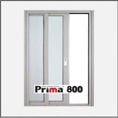 Κουφώματα αλουμινίου Μονόφυλλο Χωνευτό Τζάμι Σήτα Prima 800