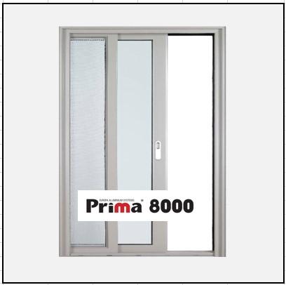Ενεργειακά Κουφώματα αλουμινίου Μονόφυλλο Χωνευτό Τζάμι Σήτα Prima 8000 Thermo