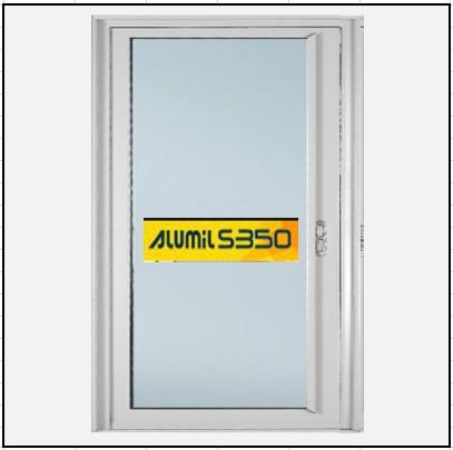 Ενεργειακά κουφώματα αλουμινίου Μονόφυλλο Χωνευτό Τζάμι Alumil 350 Thermo