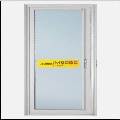 Κουφώματα αλουμινίου Μονόφυλλο Χωνευτό Τζάμι Alumil 9050 light