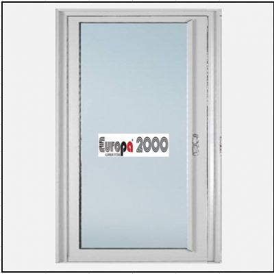 Κουφώματα αλουμινίου Μονόφυλλο Χωνευτό Τζάμι Europa 2000