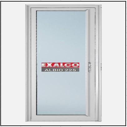 Ενεργειακά κουφώματα αλουμινίου Μονόφυλλο Χωνευτό Τζάμι Exalco 225 Thermo