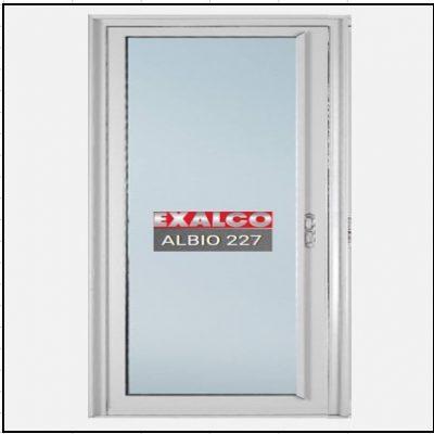 Ενεργειακά κουφώματα αλουμινίου Μονόφυλλο Χωνευτό Τζάμι Exalco 227 Thermo