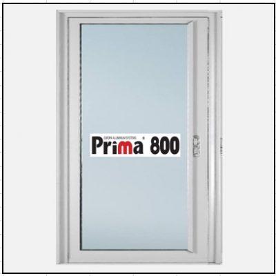 Κουφώματα αλουμινίου Μονόφυλλο Χωνευτό Τζάμι Prima 800